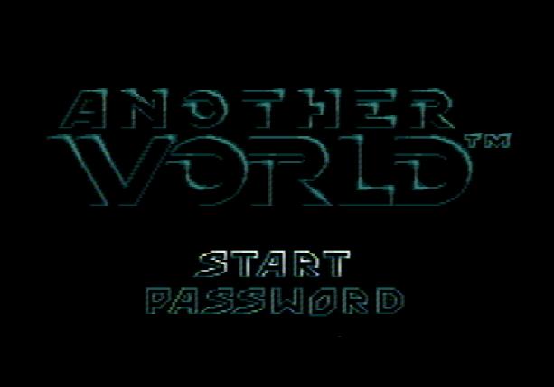 Титульный экран из игры Another World (Out of This World) / Другой мир