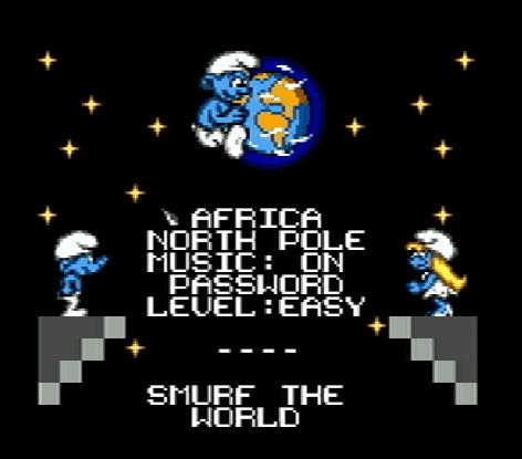 Титульный экран из игры Smurfs: Travel the World, The / Смурфы: Путешествия по Миру