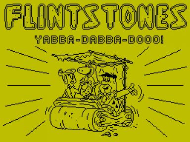 Титульный экран из игры Yabba Dabba Doo! / the Flintstones