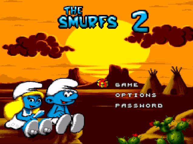 Титульный экран из игры Smurfs 2, the / Смурфы 2