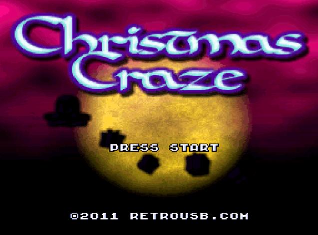 Титульный экран из игры Christmas Craze