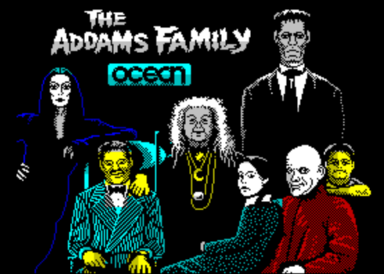 Титульный экран из игры Addams Family / Семейка Аддамс