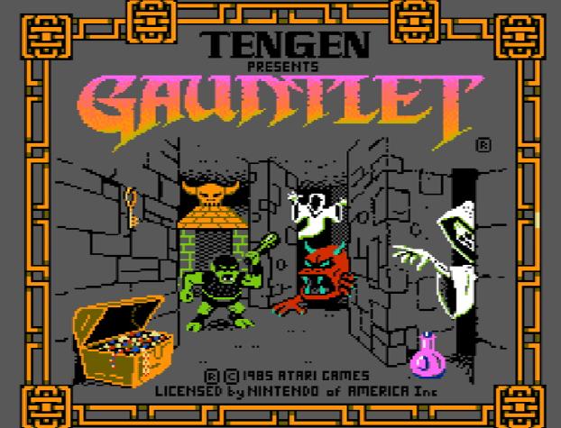 Титульный экран из игры Gauntlet / Гаунтлет