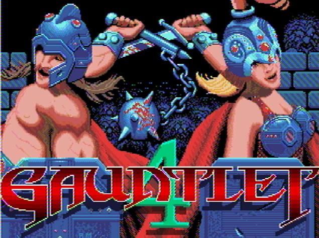 Титульный экран из игры Gauntlet 4 / Гаунтлет 4