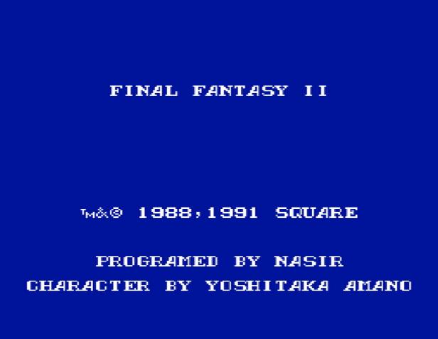 Титульный экран из игры Final Fantasy 2 / Последняя Фантазия 2