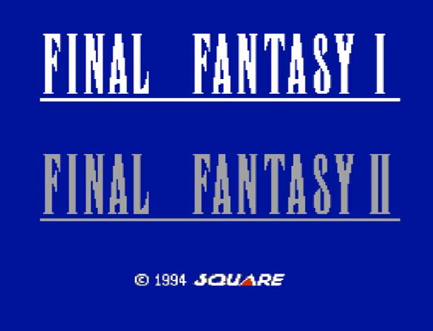 Титульный экран из игры Final Fantasy I & II / Последняя Фантазия 1 и 2