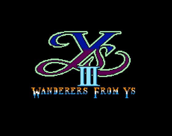 Титульный экран из игры Ys III - Wanderers From Ys / Уайс 3 Странники из Уайс