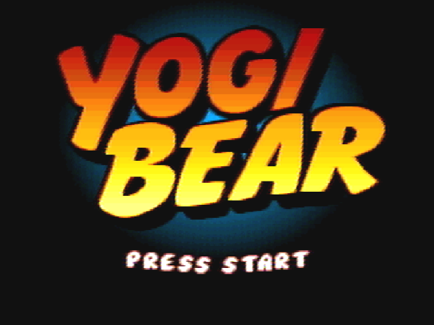 Титульный экран из игры Adventures of Yogi Bear / Yogi Bear's Cartoon Capers