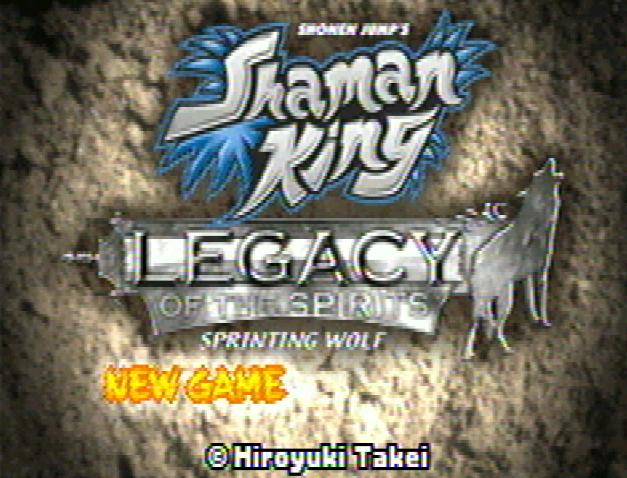 Титульный экран из игры Shaman King: Legacy of the Spirits / Король Шаманов: Наследие Духов