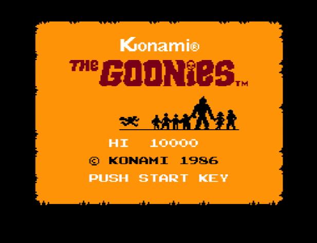 Титульный экран из игры Goonies 'the / Балбесы
