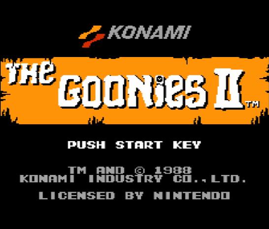 Титульный экран из игры Goonies 2 'the / Балбесы 2
