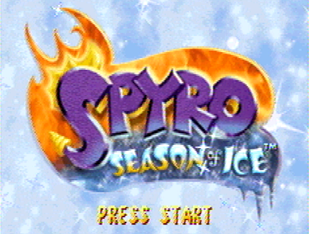 Титульный экран из игры Spyro: Season of Ice / Спайро: Сезон Льдов