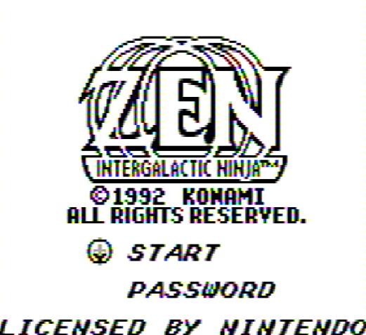 Титульный экран из игры Zen the Intergalactic Ninja / Зен Межгалактический Ниндзя