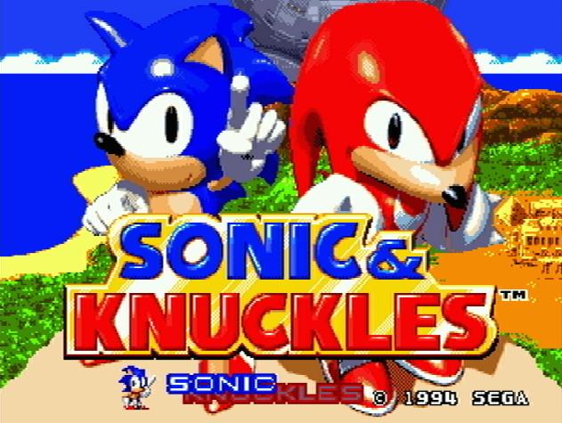 Титульный экран из игры Sonic & Knuckles / Соник и Наклз