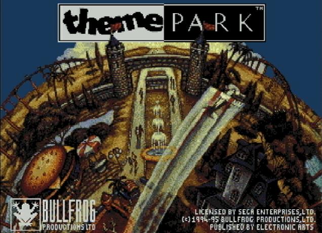 Титульный экран из игры Theme Park / Тематический Парк