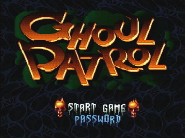 Титульный экран из игры Ghoul Patrol / Гуль Патруль