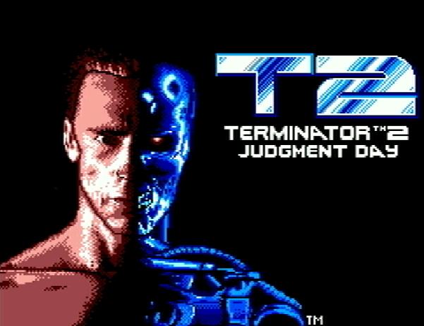 Титульный экран из игры Terminator 2: Judgment Day / Терминатор 2 Судный День