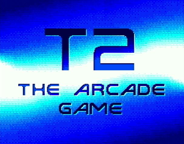 Титульный экран из игры Terminator 2: The Arcade Game / Терминатор 2 Аркадная Игра