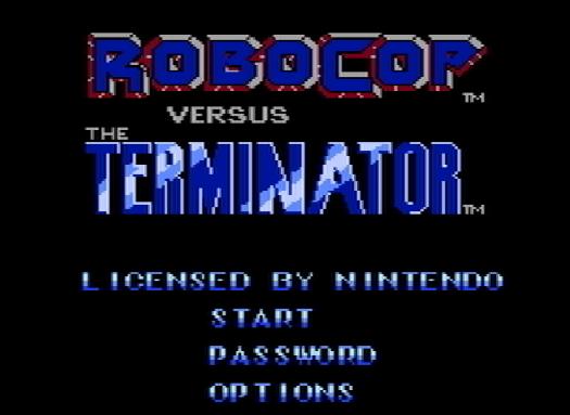 Титульный экран из игры RoboCop Vs The Terminator / Робокоп против Терминатора