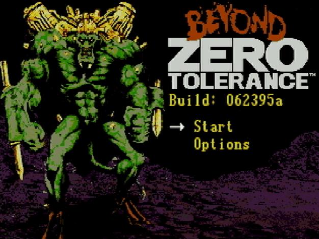 Титульный экран из игры Beyond Zero Tolerance / Бийонд Зеро Толеранс
