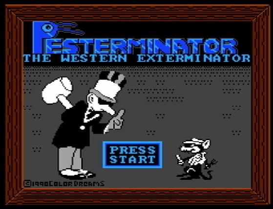 Титульный экран из игры Pesterminator: The Western Exterminator / Пестерминатор: Западный Истребитель