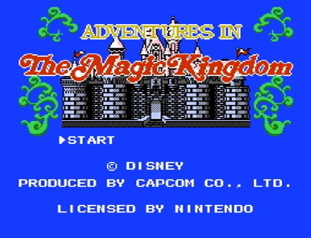 Титульный экран из игры Adventures in the Magic Kingdom / Приключения в Волшебном Королевстве