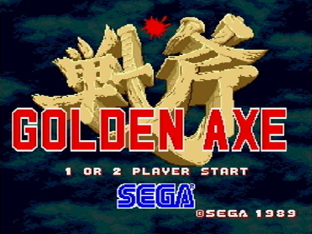 Титульный экран из игры Golden Axe / Золотая Секира