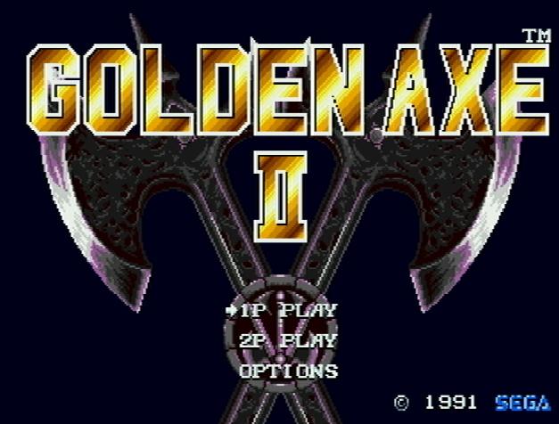 Титульный экран из игры Golden Axe II / Золотая Секира 2