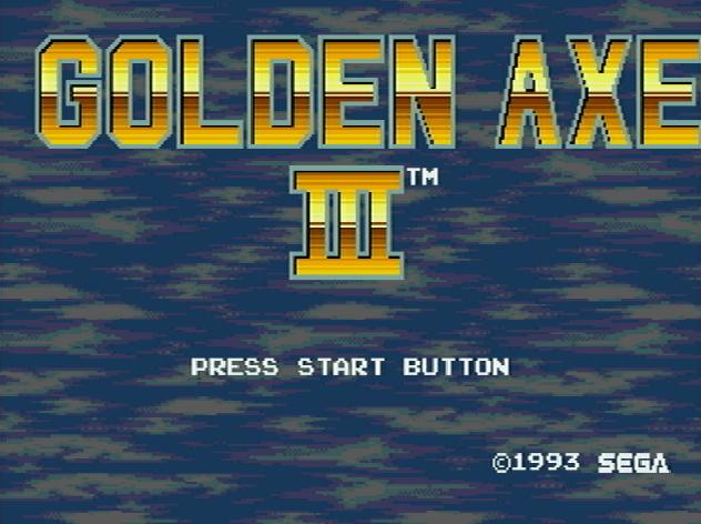 Титульный экран из игры Golden Axe III / Золотая Секира 3