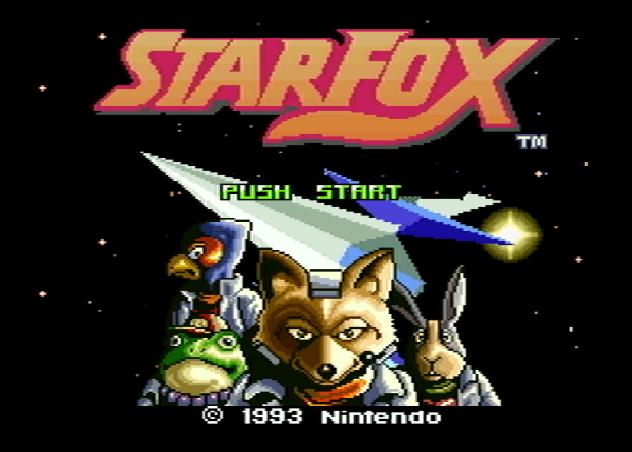 Титульный экран из игры Star Fox / Starwing (Звёздный Лис)