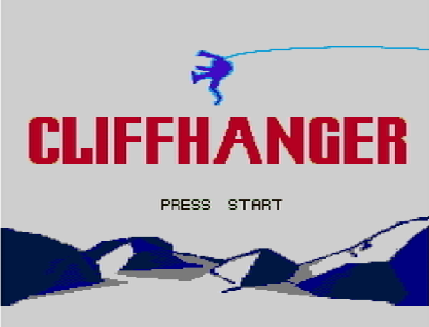 Титульный экран из игры Cliffhanger / Скалолаз