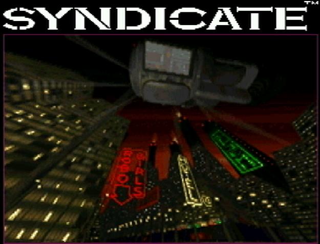 Титульный экран из игры Syndicate / Синдикат