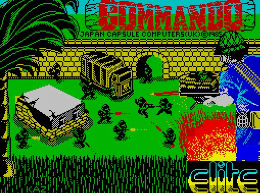 Титульный экран из игры Commando / Коммандо