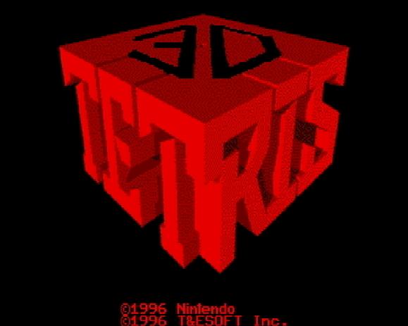 Титульный экран из игры 3D Tetris / 3Д Тетрис