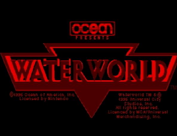 Титульный экран из игры Waterworld / Водный Мир.