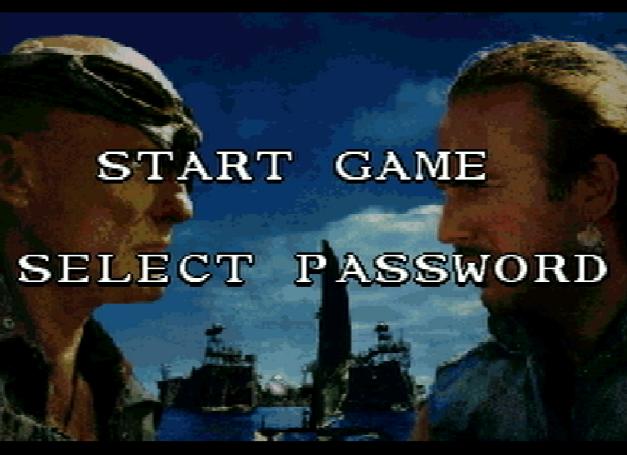 Титульный экран из игры Waterworld / Водный Мир