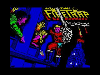 Титульный экран из игры Firetrap / Файртрэп