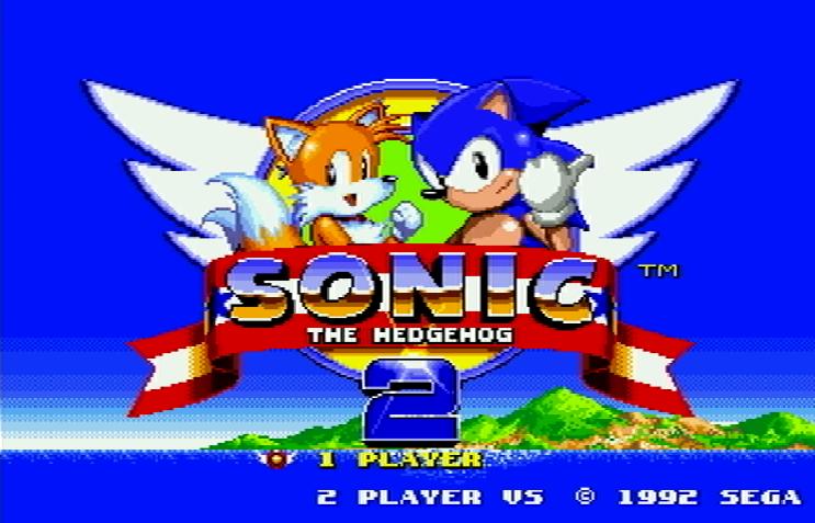 Титульный экран из игры Sonic the Hedgehog 2 / Ёж Соник 2