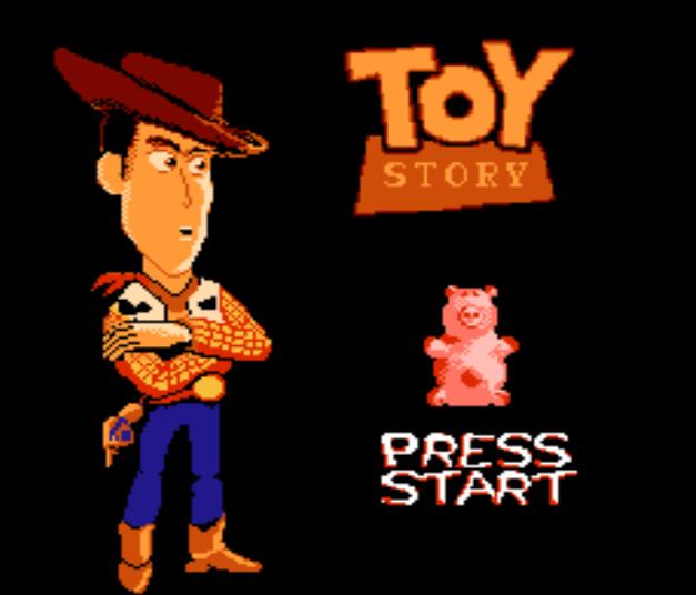 Титульный экран из игры Toy Story / История Игрушек