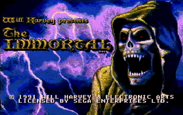 Титульный экран из игры Immortal 'the / Бессмертный