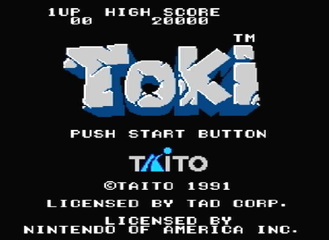 Титульный экран из игры Toki / Токи