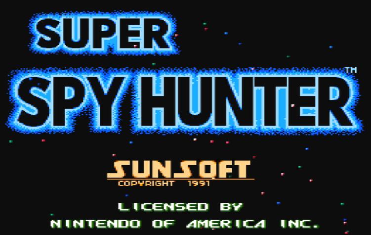Титульный экран из игры Super Spy Hunter / Супер Охотник за Шпионами