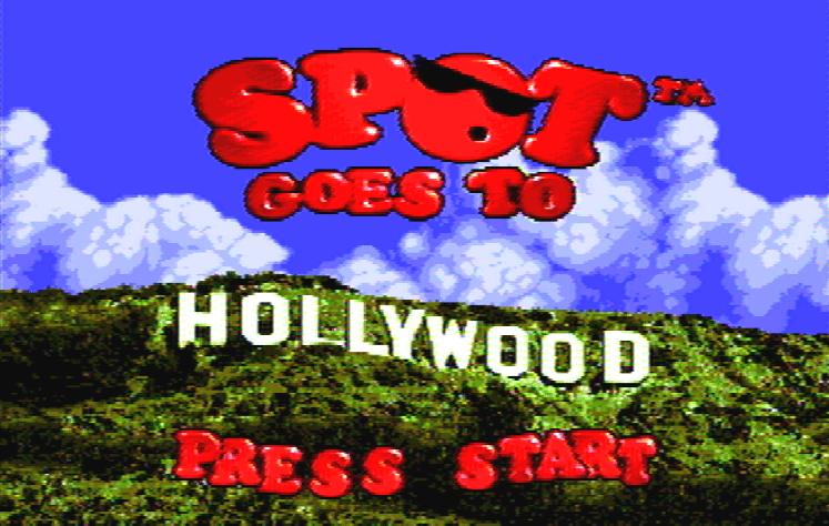 Титульный экран из игры Spot Goes to Hollywood / Спот отправляется в Голливуд
