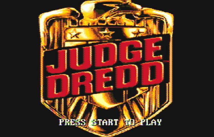 Титульный экран из игры Judge Dredd / Судья Дредд