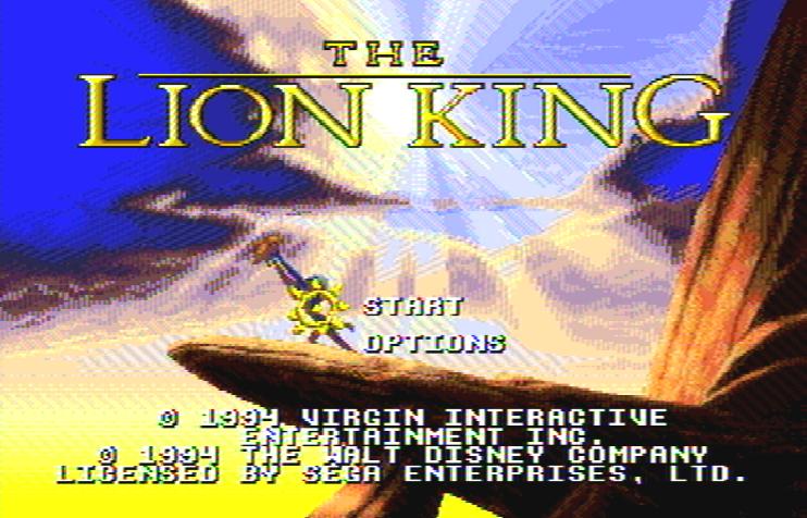 Титульный экран из игры Lion King 'the / Король Лев