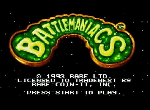 Титульный экран из игры Battletoads in Battlemaniacs / Боевые Жабы в Баттлмании