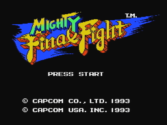 Титульный экран из игры Mighty Final Fight / Майти Файнэл Файт